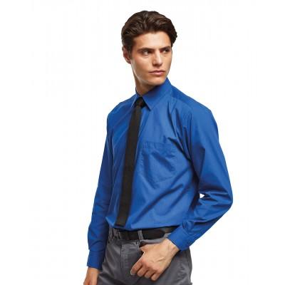 Plain Long sleeve poplin shirt Shirts Premier 105 GSM