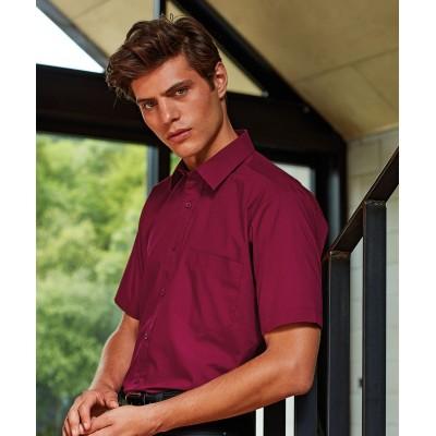 Plain Short sleeve poplin shirt Shirts Premier 105 GSM