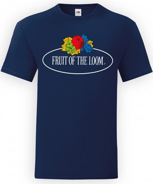 Plain Vintage T large logo print T-shirts Fruit of the Loom White: 145. Colours: 150 GSM