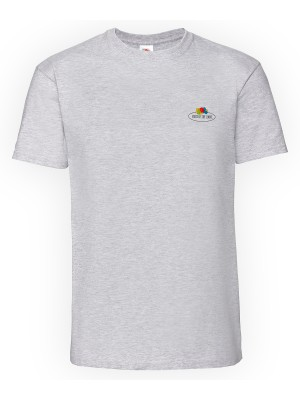 Plain Vintage premium T small logo print T-shirts Fruit of the Loom White: 190. Colours: 195 GSM