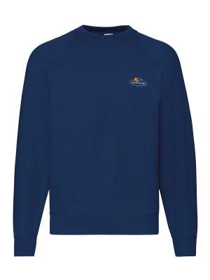 Plain Vintage raglan sweatshirt small logo print Sweatshirts Fruit of the Loom White: 260. Colours: 280 GSM