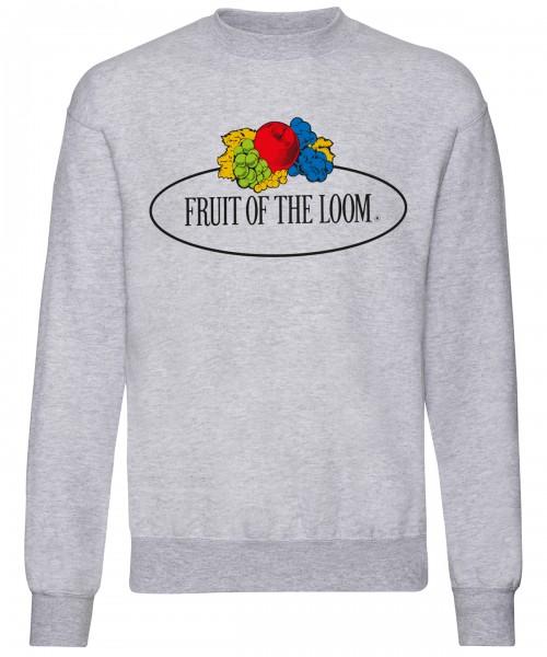 Plain Vintage set-in sweatshirt large logo print Sweatshirts Fruit of the Loom White: 260. Colours: 280 GSM