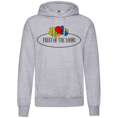 Plain Vintage hooded sweatshirt large logo print Sweatshirts Fruit of the Loom White: 260. Colours: 280 GSM