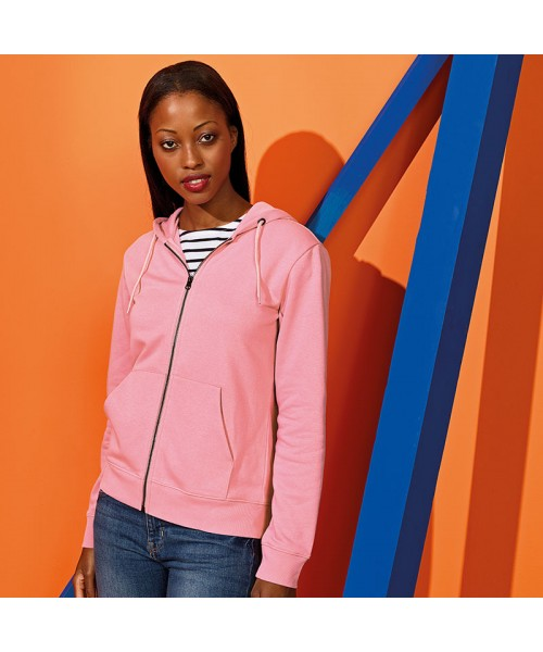 Sustainable & Organic Hoodie Women's zip-through organic hoodie Adults  Ecological Asquith & Fox brand wear