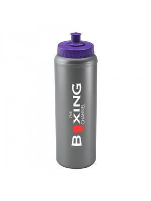 Personalised Sports Bottle 1l Silver
