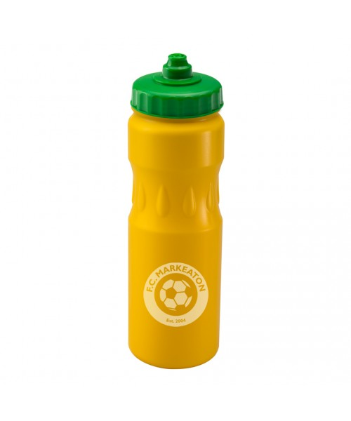 Personalised Teardrop Sports Yellow 750ml