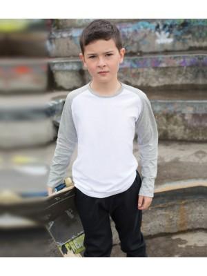 Plain T-Shirt Long Sleeve Skinnifit 140 gsm GSM