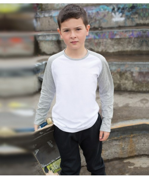 Plain T-Shirt Long Sleeve Skinnifit 140 GSM Kids