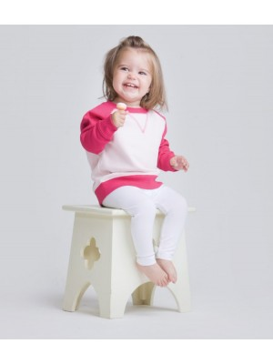 Plain Toddlers Sweatshirt Contrast Larkwood 280 GSM