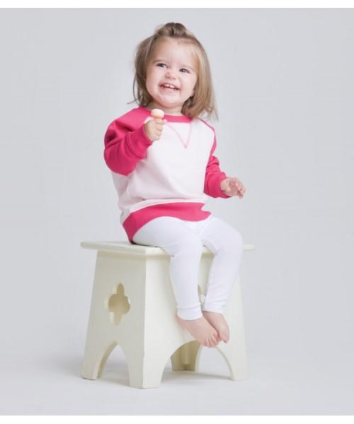 Plain Toddlers Sweatshirt Contrast Larkwood 280 GSM