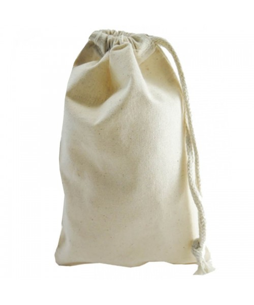 Daily use stuff drawstring cotton natural tote bags