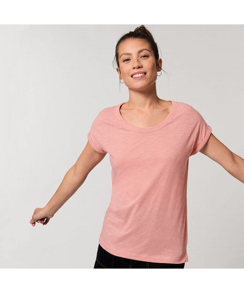Sustainable & Organic T-Shirts Women's Stella Rounders slub rolled sleeve slub t-shirt (STTW112) Adults  Ecological STANLEY/STELLA brand wear