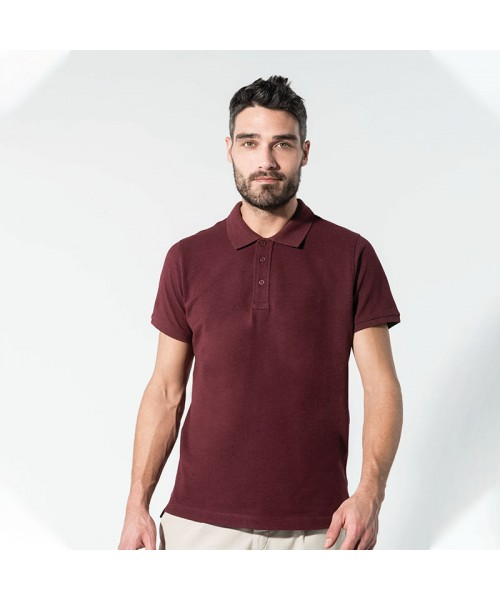 Sustainable & Organic Polos Organic piqué short sleeve polo shirt Adults  Ecological KARIBAN brand wear