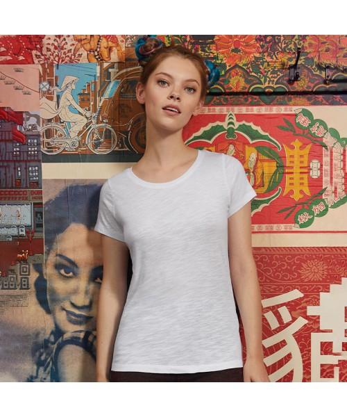 Sustainable & Organic T-Shirts B&C Inspire slub T /women Adults  Ecological B&C Collection brand wear