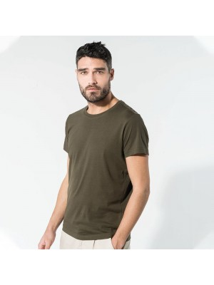 Sustainable & Organic T-Shirts Organic cotton crew neck t-shirt Adults  Ecological KARIBAN brand wear
