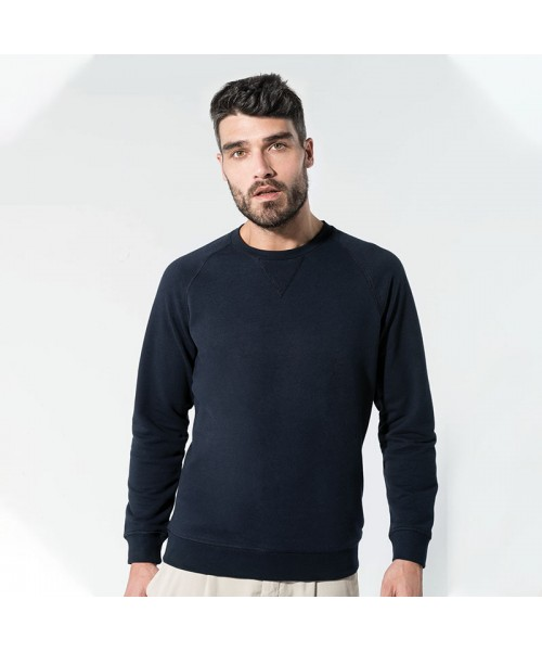 Sustainable & Organic Sweatshirts Organic cotton crew neck raglan sleeve sweatshirt Adults  Ecological KARIBAN brand wear