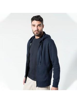Sustainable & Organic Hoodie Organic zipped hoodie Adults  Ecological KARIBAN brand wear