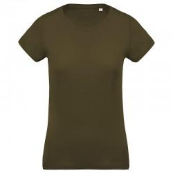 Sustainable & Organic T-Shirts Women's organic cotton crew neck t-shirt Adults  Ecological KARIBAN brand wear