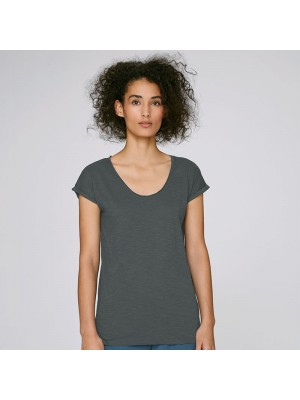Sustainable & Organic T-Shirts Women's Stella Invents slub v-neck raw edge t-shirt (STTW145) Adults  Ecological STANLEY/STELLA brand wear