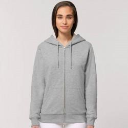 Sustainable & Organic Hoodie Warmer unisex Sherpa lined zip-thru hoodie (STSU715) Adults  Ecological STANLEY/STELLA brand wear