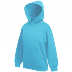 Plain Classic 80/20 kids hooded sweatshirt Fruit Of The Loom 280 GSM