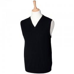 Plain V Neck Sweater Lambswool Sleeveless Henbury