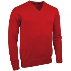 Plain Lambswool v-neck sweater Glenmuir1891 15 Gauge