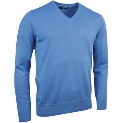 Plain Cotton v-neck sweater Glenmuir1891 12 Gauge GSM