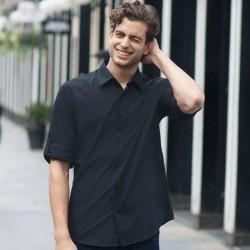 Plain Shirt Roll Sleeve Skinnifitmen 110 GSM