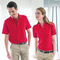 Plain Polo Shirt Ladies Classic Pique Henbury 225 GSM