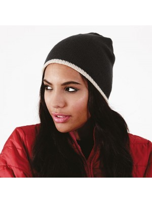 Beanie knitted hat Two-tone Beechfield Headwear