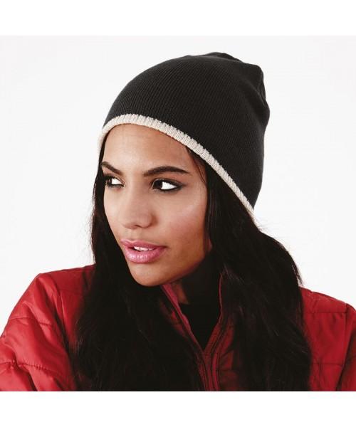 Beanie knitted hat Two-tone Beechfield Headwear