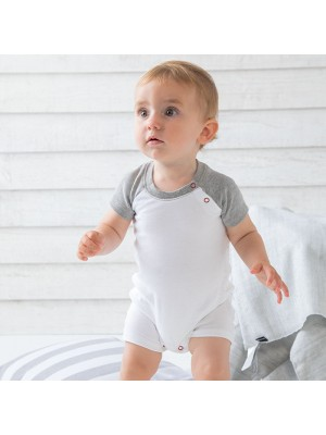 Sustainable & Organic Babywear Baby baseball playsuit Kids  Ecological BABYBUGZ brand wear