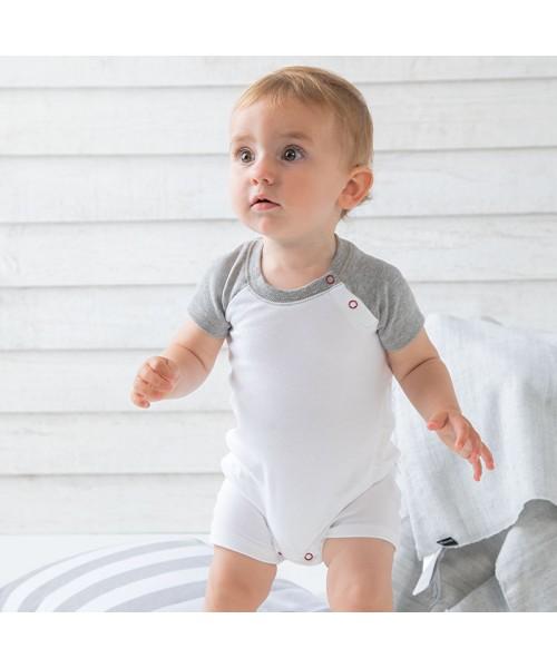 Sustainable & Organic Babywear Baby baseball playsuit Kids  Ecological BABYBUGZ brand wear