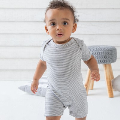 Sustainable & Organic Babywear Baby striped playsuit Kids  Ecological BABYBUGZ brand wear