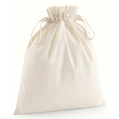 Sustainable & Organic Bags Organic cotton drawcord bag   Ecological Westford Mill brand wear