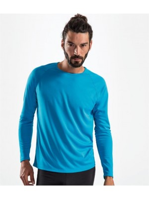 Plain SPORTY LONG SLEEVE PERFORMANCE T-SHIRT SOLS 140 GSM