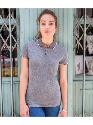 Plain LADIES PANAME HEATHER PIQUÉ POLO SHIRT SOLS 180 GSM