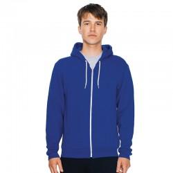 Plain fleece zip hoodie Flex American Apparel 278 GSM