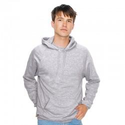 Plain fleece pullover hoodie California American Apparel 244 GSM