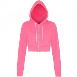 Plain crop hoodie Flex fleece American Apparel 278 GSM