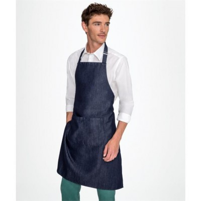 Plain GRANT DENIM BIB APRON WITH POCKET Aprons SOLS 270 GSM