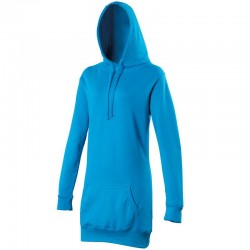 Plain hoodie Girlie longline Awdis 280 GSM