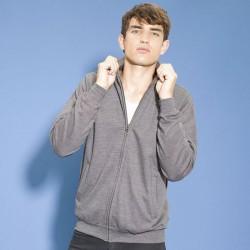 Plain Sweatshirt Fresher Full Zip AWDis Just Hoods 280 GSM