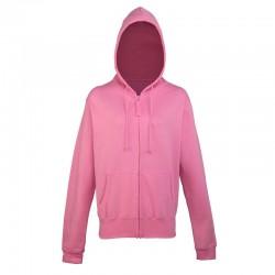 Plain Sweatshirt Zip Hooded AWDis Just Hoods 280 GSM