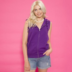 Plain Girlie sleeveless zoodie Awd Is 280 GSM