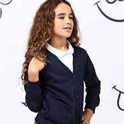 Plain Kids Academy cardigan AWDis 280 GSM