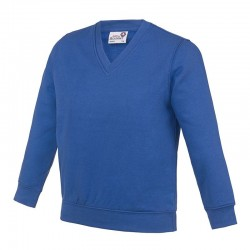 Plain Kids Academy v-neck sweatshirt AWDis 280 GSM