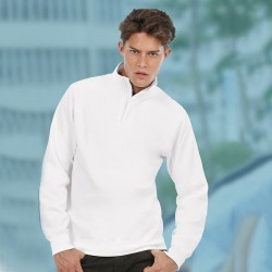 Plain Sweatshirt With Full length Zip Mens Spider B and C Collection 280 GSM