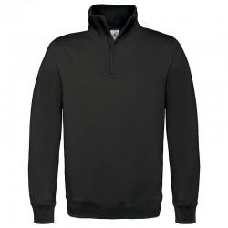Plain sweatshirt ID.004 ¼ zip B&C 280 GSM